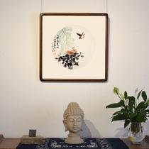 付文一手绘真迹国画花鸟卧室书房客厅中式古典装饰挂画带框装裱