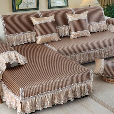 沙发垫夏季凉席凉垫欧式冰丝席子客厅组合防滑简约现代沙发套夏天在哪买