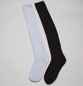 黑色 修腿显瘦 中筒袜长筒袜长统袜学生袜棉袜 白色袜子