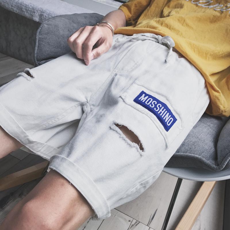 个性男裤白色