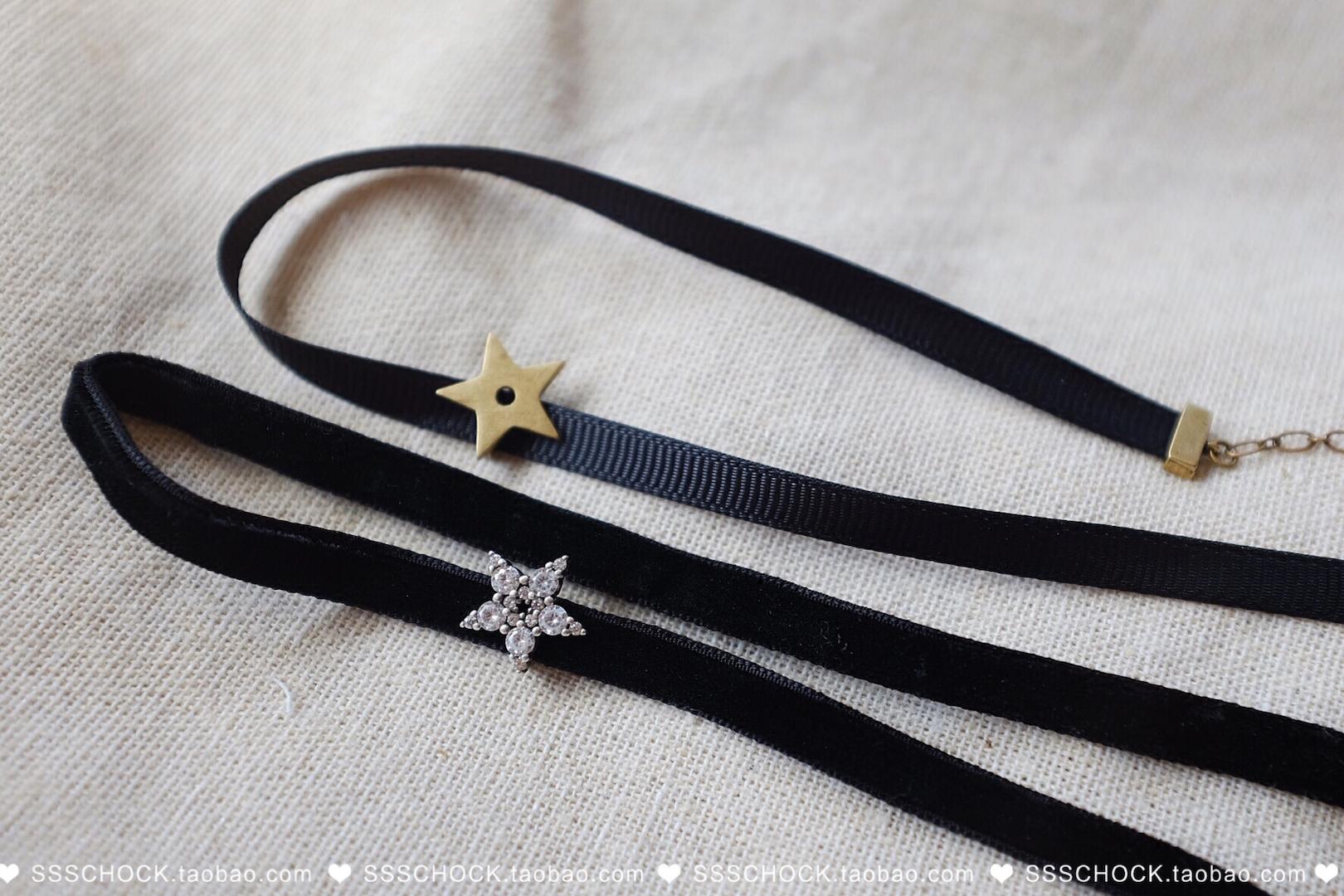 五角星字母项链