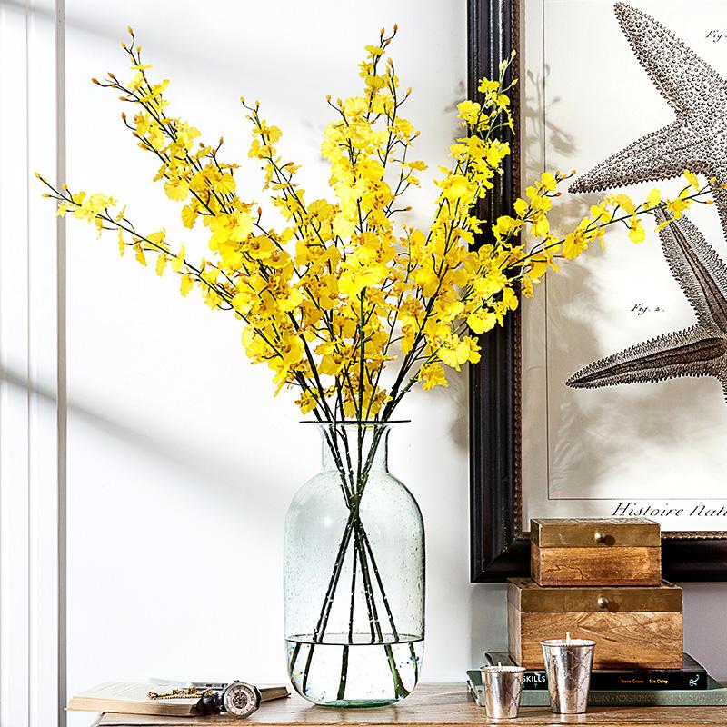 黄色仿真花