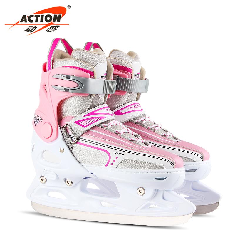 大童男速滑童男速滑刀女童花样公主调节可调鞋耐用男童时尚冰刀鞋