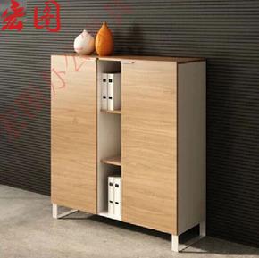 厂家直销 柜子 储物柜 文件柜 办公矮柜 带锁 板式 实木柜