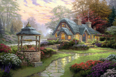 高清喷绘印刷仿真油画 风景油画 居家装饰画 托马斯风景 TMS123