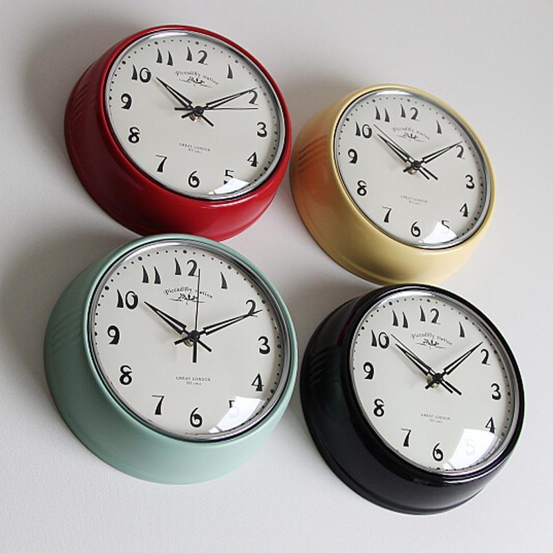 田园金属时钟表