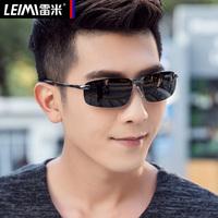 方形偏光太阳镜男士司机潮人变色夜视眼镜开车专用潮眼睛驾驶墨镜