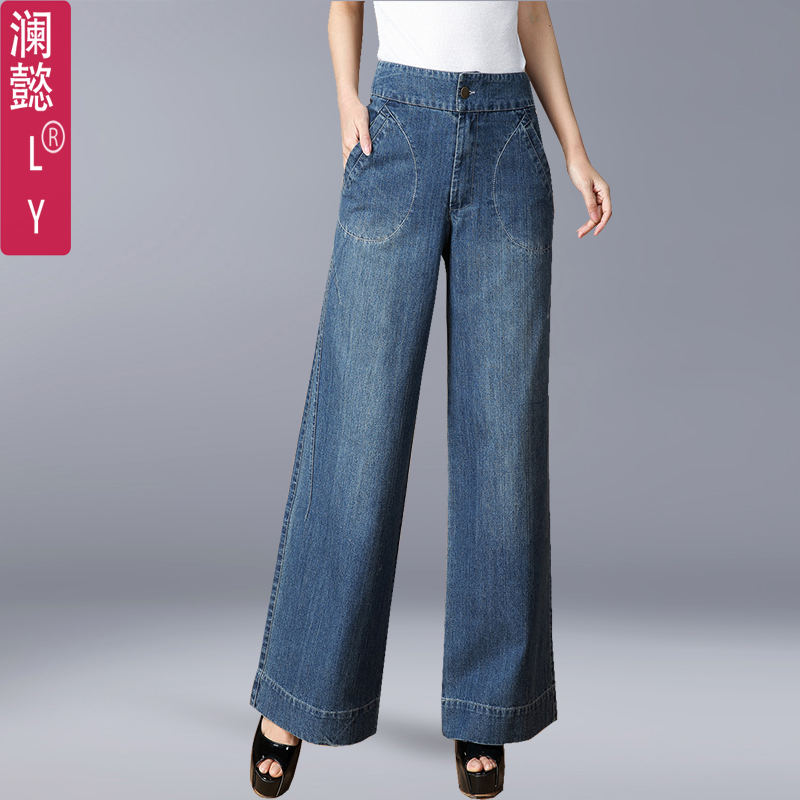 大脚牛仔女裤