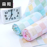 Soft water-absorbing square double gauze cotton soft baby bath towel thin children are