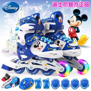麦斯卡迪士尼系列儿童溜冰鞋全套装轮滑鞋男女旱冰鞋可调旱冰鞋