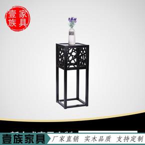 新中式古典实木水曲柳花架后现代明清酒店会所家具花架花几简约