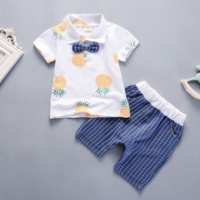 儿童短袖套装夏季男童半袖童装婴儿纯棉衣服女童短裤宝宝T恤夏装