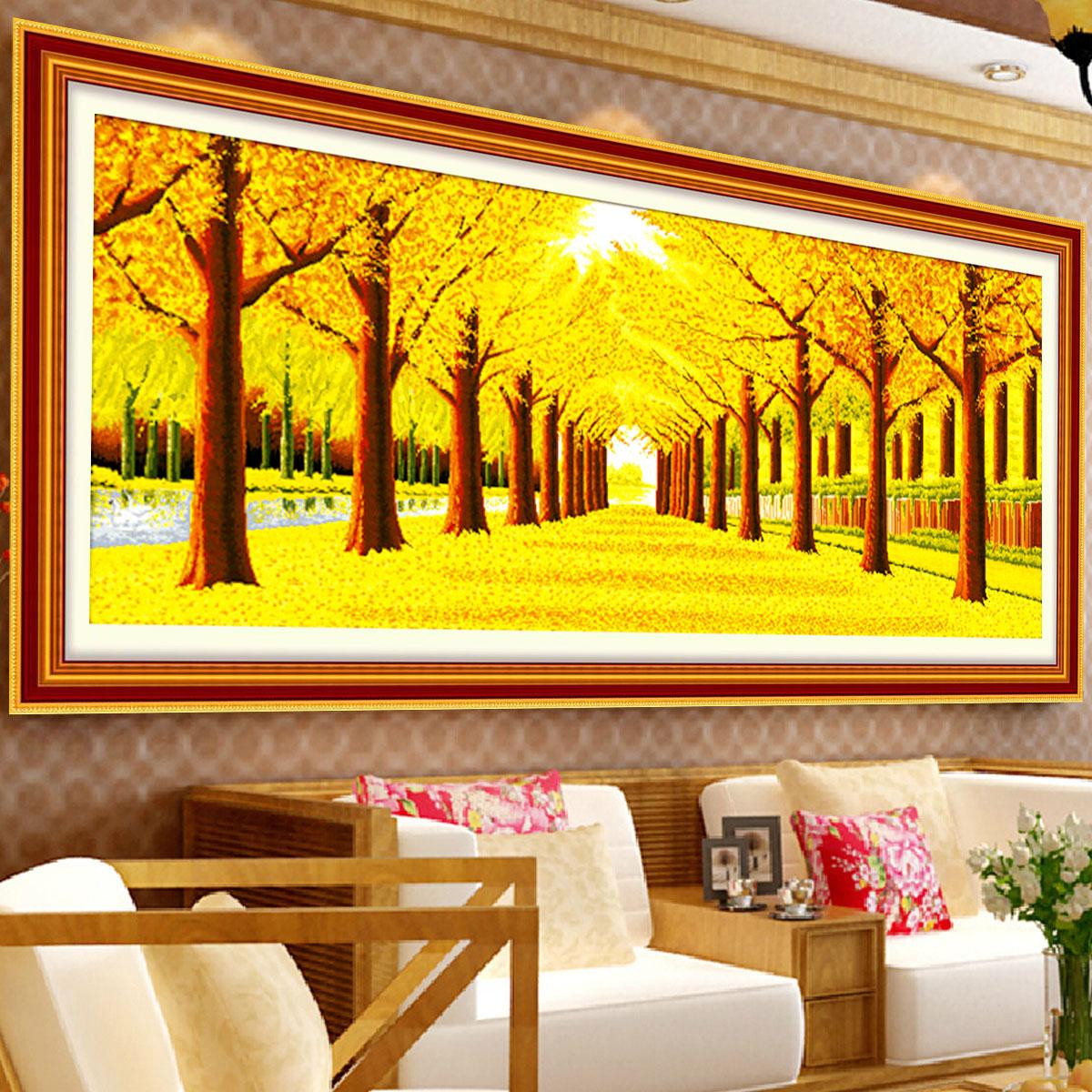 客厅大幅十字绣3米