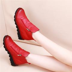 内增高短靴皮