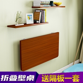 促销小户型壁挂折叠桌餐桌家用挂墙电脑桌简易连壁靠墙长条书桌子