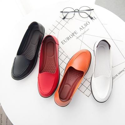 春季新款豆豆鞋女鞋休闲浅口孕妇鞋时尚妈妈鞋女士单鞋黑色护士鞋