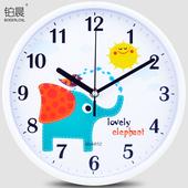 简约挂钟卡通可爱时钟创意表 铂晨静音石英钟客厅卧室钟表现代时尚