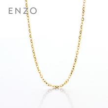 Enzo jewelry 14K gold jewelry necklace chain chain pendant chain simple flash O chain