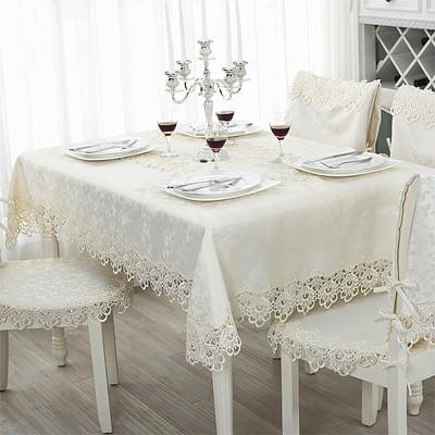 长方形欧式白色桌布布艺台布镂空桌布蕾丝桌布茶几布酒柜多用盖巾