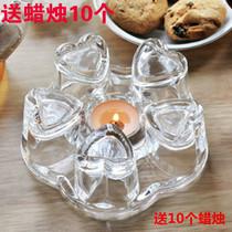玻璃茶具心形加热保温底座恒温玻璃茶壶底座茶壶暖茶器用蜡烛加热