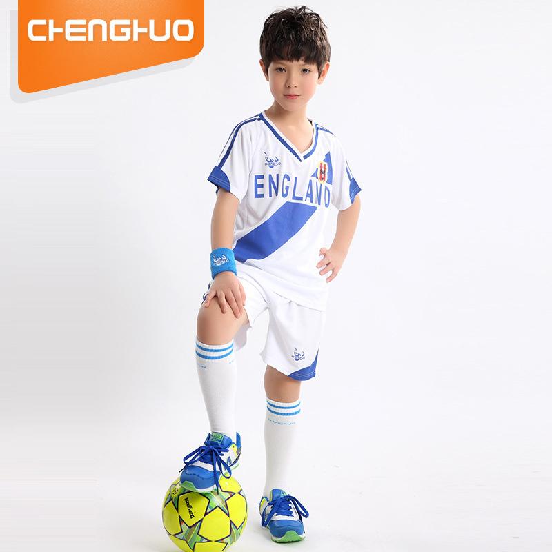 2018世界杯儿童足球运动服套装中小学生体肓训练比赛速干球衣定制