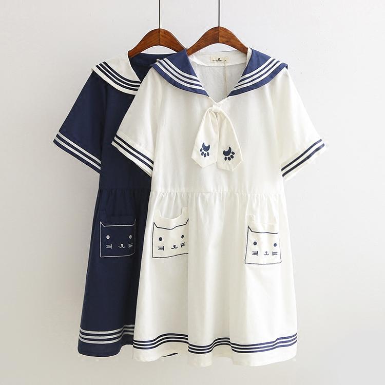 猫咪棉连衣裙
