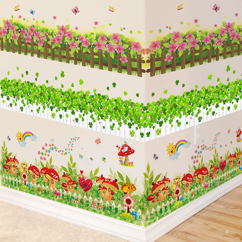 墙纸贴画教室布置