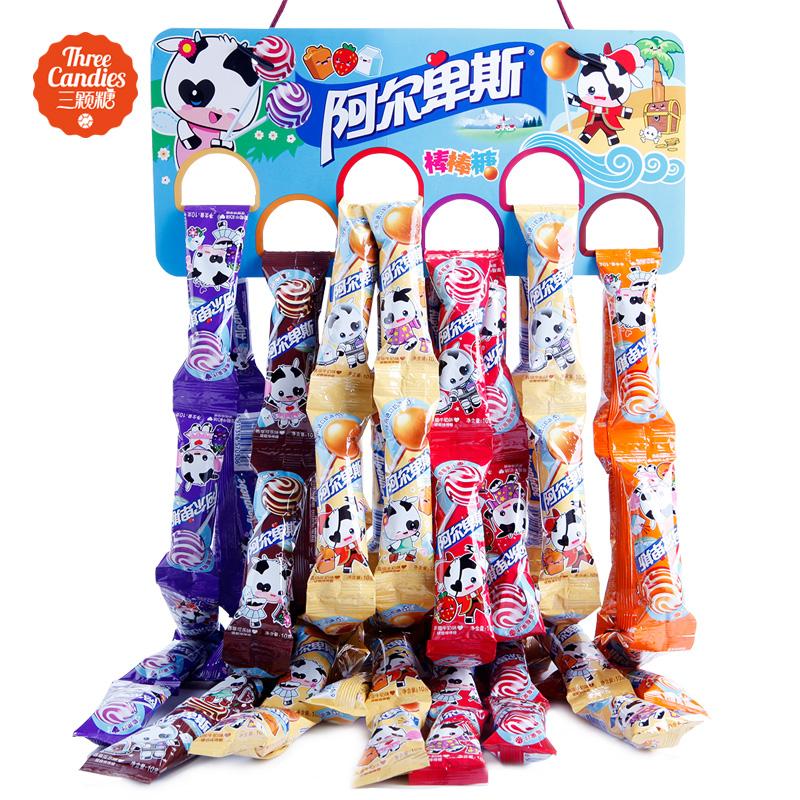 阿尔卑斯棒棒糖80支混合装奶糖硬糖糖果零食送女友 带原装挂板