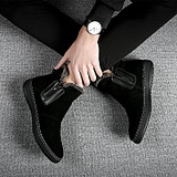 雪地靴男短靴马丁靴冬季加绒保暖皮毛一体防水韩版高帮鞋男士棉鞋