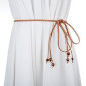 百搭编织腰带单圈流苏腰带腰链 女士腰带韩国绒腰饰 细腰带 裙带