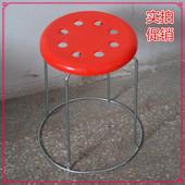 加粗加厚钢筋凳金属小凳子塑料圆凳换鞋凳餐馆地毯椅子家用餐桌凳
