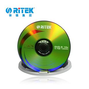 铼德档案级DVD-R刻录盘DVD+R空白光盘 4.7G数据盘16X光碟50片桶装