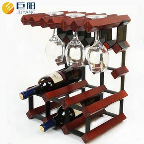 酒架实木红酒架摆件创意酒柜餐厅欧式酒杯架实木高脚杯架葡萄酒架