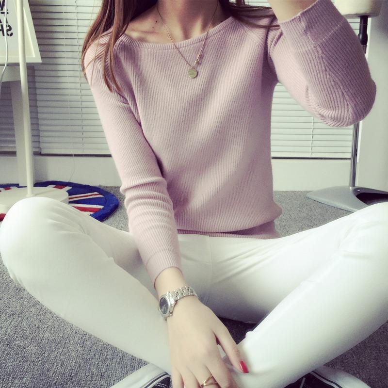 粉色打底衫长袖
