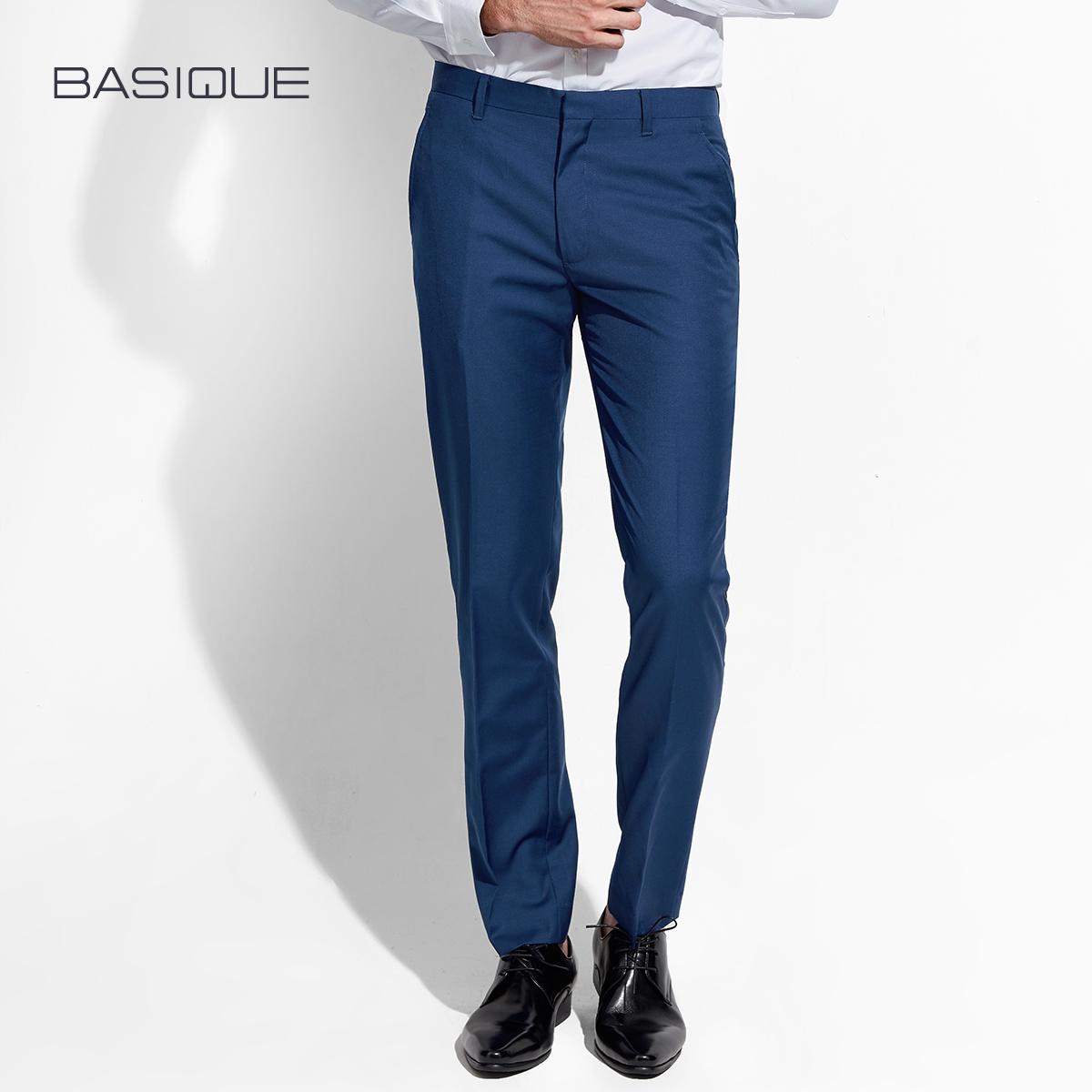 宝蓝色西裤