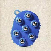 按摩器滾珠手套七龍珠雙面經絡刷美體刷/瘦體刷七星珠/鋼珠刷