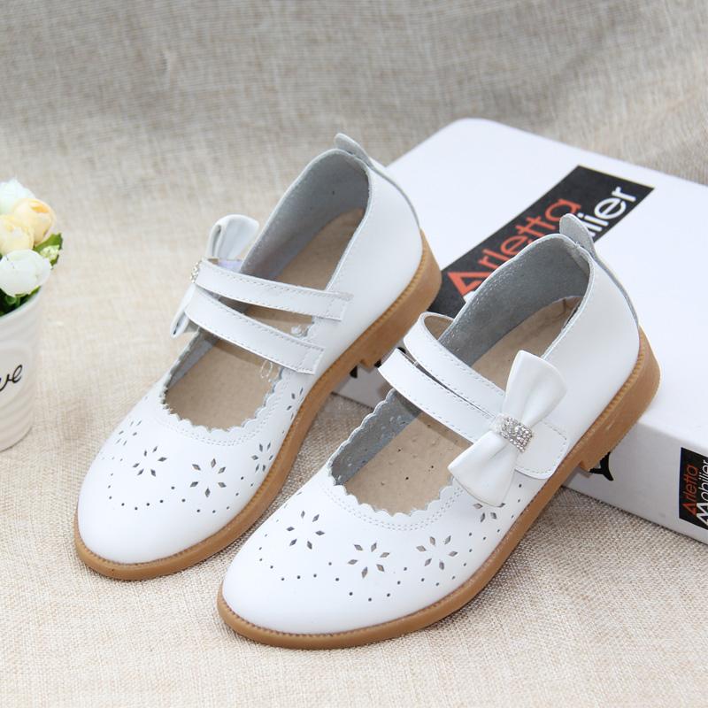 女中童牛皮鞋