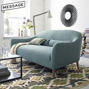 日式布艺小型 北欧简约现代欧式客厅阳台经济单双人三人家具沙发