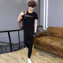 17 teenage 12-13-14 short sleeved T-shirt suit, male 15-16 year old boy, summer junior high school student clothes