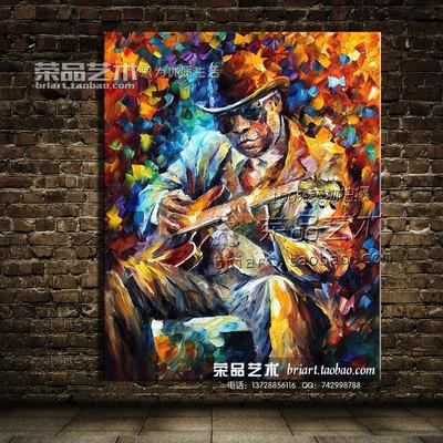 成品手绘油画KTV欧式抽象音乐人物印象吉他装饰画定制床头挂画哪个品牌好