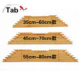 Tab sub-line ruler with hook-line plate multi-functional sub-line plate winding fishing gear accessories sub-line hook-out ruler
