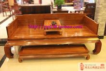 比绍刺猬紫檀明式素面罗汉床三件套独板中式仿古花梨红木家具