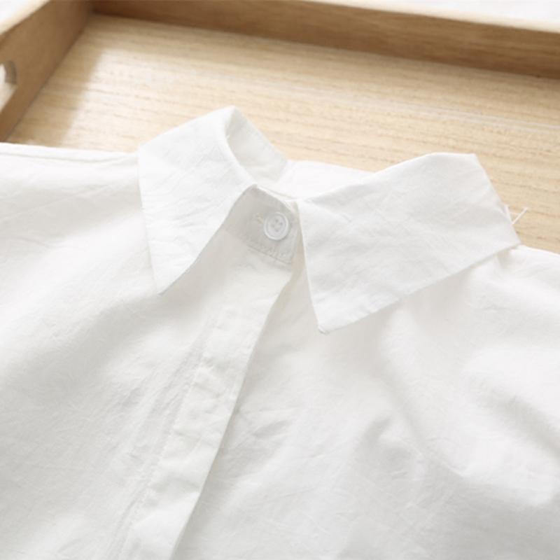 韩版纯色女衬衣修身