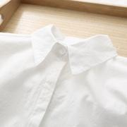 2018早春款韩版小清晰文艺纯色白衬衫女学生职业百搭修身打底衬衣
