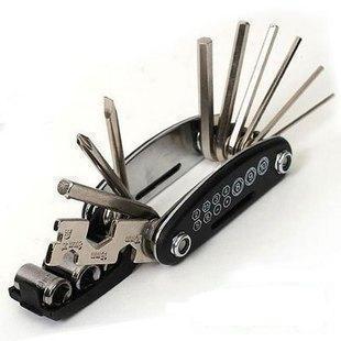 乐炫16功能自行车内六角 扳手 修理工具组合 骑行工具