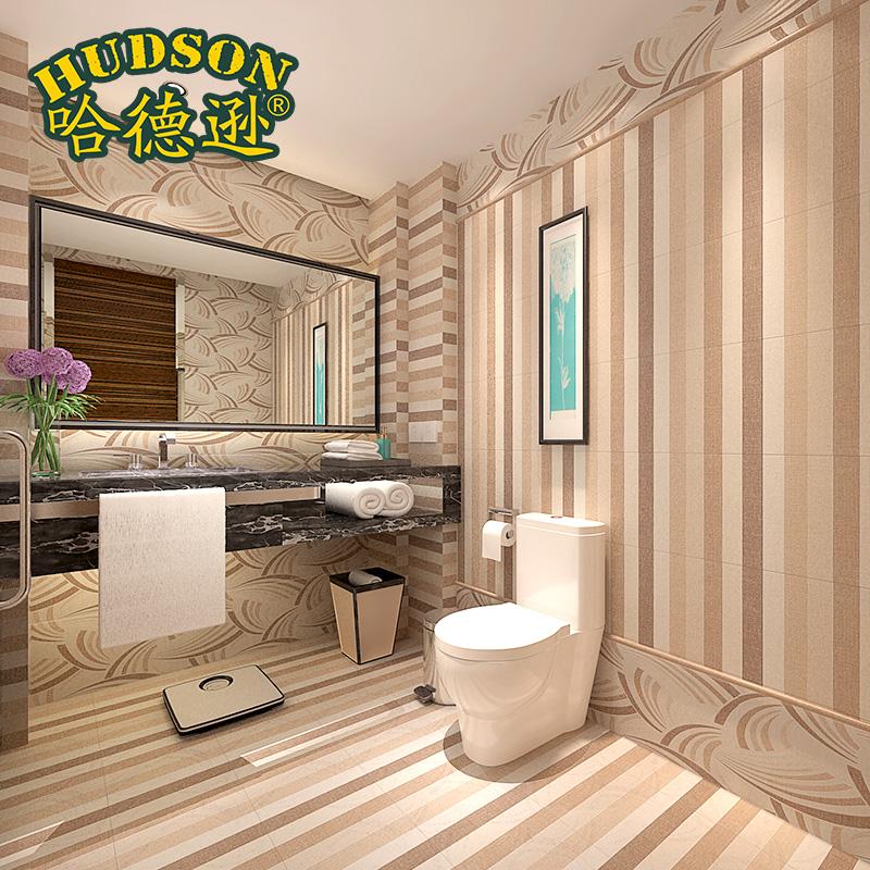 哈德逊瓷砖 布纹印记 卫生间防滑地砖背景墙砖 清新文艺釉面瓷砖