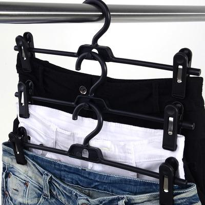 日本LEC 衣物裤子晾晒架可叠加式晾晒夹 晒裤夹 防风晾衣夹衣架