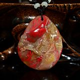 Changhua Frozen Bloodstone Pendant with a provincial certificate
