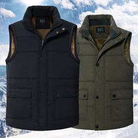 秋冬季中老年马甲男多口袋加绒加厚宽松老人棉坎肩背心爸爸装外套