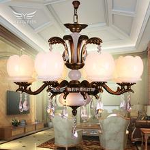 高档时尚新款全铜天然云石吊灯客厅餐厅书房卧室豪华水晶灯6192